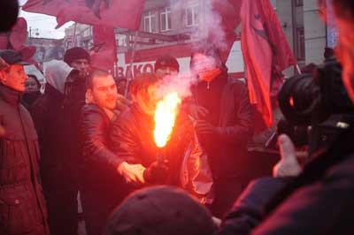 """""""Марш несогласных"""". Москва, Триумфальная площадь, 16 декабря 2006 года."""