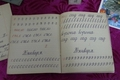 Чистописание в советской школе, тетради учеников